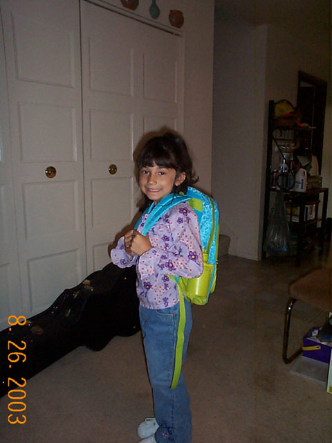 Matlyn on her first day of Kindergarten.